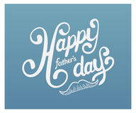 Fathers day greeting vector Royalty Free Stock Images