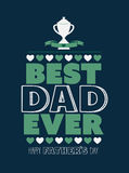 Fathers day greeting vector Stock Photo