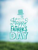 Fathers day greeting vector Stock Photography