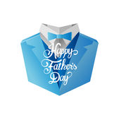 Fathers day greeting vector Royalty Free Stock Photos