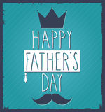 Fathers Day hand drawn poster Royalty Free Stock Image