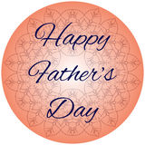 Fathers day. Happy fathers day family holiday Royalty Free Stock Images