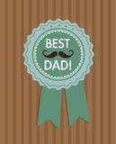 Fathers Day Icons and Cards Royalty Free Stock Photos