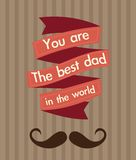 Fathers Day Icons and Cards Royalty Free Stock Image