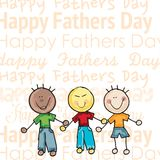 Fathers Day Icons and Cards Royalty Free Stock Photography