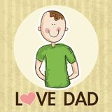 Fathers Day Icons and Cards Royalty Free Stock Images