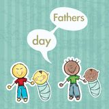 Fathers Day Icons and Cards Stock Image