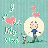 Fathers Day Icons and Cards Stock Photography