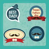 Fathers Day Icons and Cards Stock Images