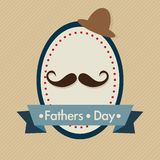 Fathers Day Icons and Cards Stock Photos