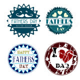 Fathers day icons Royalty Free Stock Photo