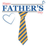 Fathers day illustration with tie Stock Images