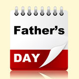 Fathers Day Indicates Date Daddy And Celebration Royalty Free Stock Photos