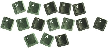 Fathers day keyboard words royalty free stock photos