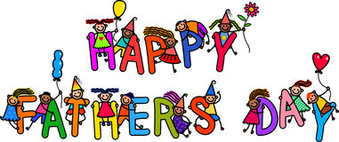 Fathers Day Kids Royalty Free Stock Photos