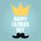 Fathers day king Royalty Free Stock Photo