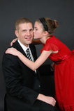 Fathers Day Kiss Royalty Free Stock Images