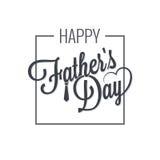 Fathers day logo on white Stock Image