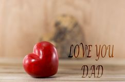 Fathers day love you dad stock photos