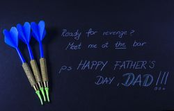 Fathers day message on a black background Royalty Free Stock Photos