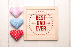 Fathers day message Royalty Free Stock Images
