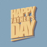 Fathers day minimal typographical background. Royalty Free Stock Photo