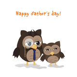 Fathers day owl Royalty Free Stock Photos