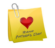 Fathers day post. illustration design Stock Image