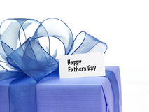 Fathers Day. Present on a white background Royalty Free Stock Photography