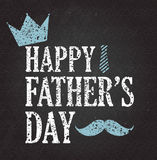 Fathers Day retro poster background. Black chalkboard. Grunge style. Vector illustration Vector Illustration