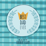 Fathers Day retro vintage greeting card vector Royalty Free Stock Photos