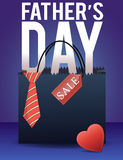 Fathers day sale poster Royalty Free Stock Photos