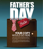 Fathers Day sale wallet background EPS 10 vector Stock Photo