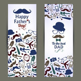 Fathers day set of banners. Vector illustration Royalty Free Stock Image