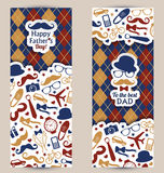 Fathers day set of banners. Vector illustration Royalty Free Stock Photos