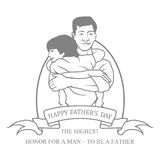 Fathers day. Stock Photography