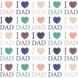 Fathers day sketched hearts i love dad. Background vector illustration