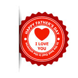 Fathers Day sticker Royalty Free Stock Photos