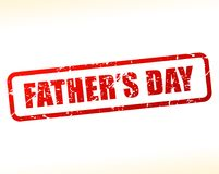 Fathers day text stamp. Illustration of fathers day text stamp Royalty Free Stock Image