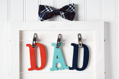 Fathers Day theme with hanging  DAD letters Stock Image
