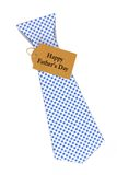 Fathers Day tie shaped gift box over white Stock Images