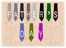 Fathers day ties Stock Photo