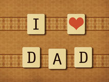Fathers day tiles Stock Photos