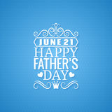 Fathers day vintage design background Stock Photography