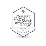 Fathers day vintage lettering background. Stock Photography