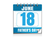 Fathers Day wall calendar 2017 Stock Images