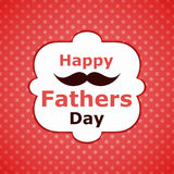 Fathers Day Wiskers greeting card Royalty Free Stock Photos