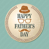Fathers feast. Happy Father's Day in retro style. Vector illustration Royalty Free Stock Photos