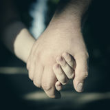 Fathers hand. Child holding father s hand Stock Images