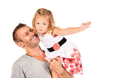 Fathers happiness Royalty Free Stock Photography